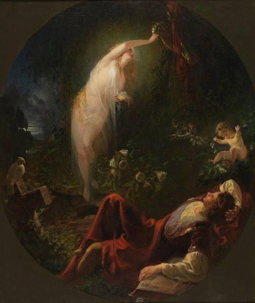 Emanuel Gottlieb Leutze, The Poet's Dream