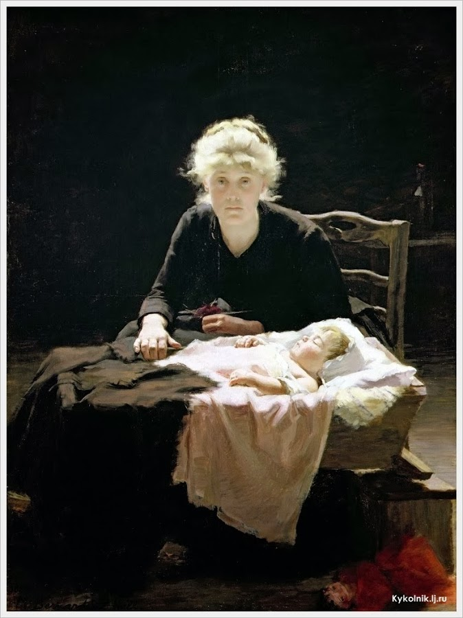 Margaret Bernardine Hall - Fantine - baby Cosette - easier to see bottle here