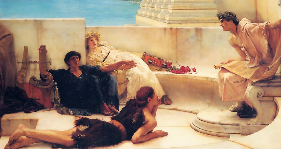 A Reading from Homer by Laurence Alma-Tadema