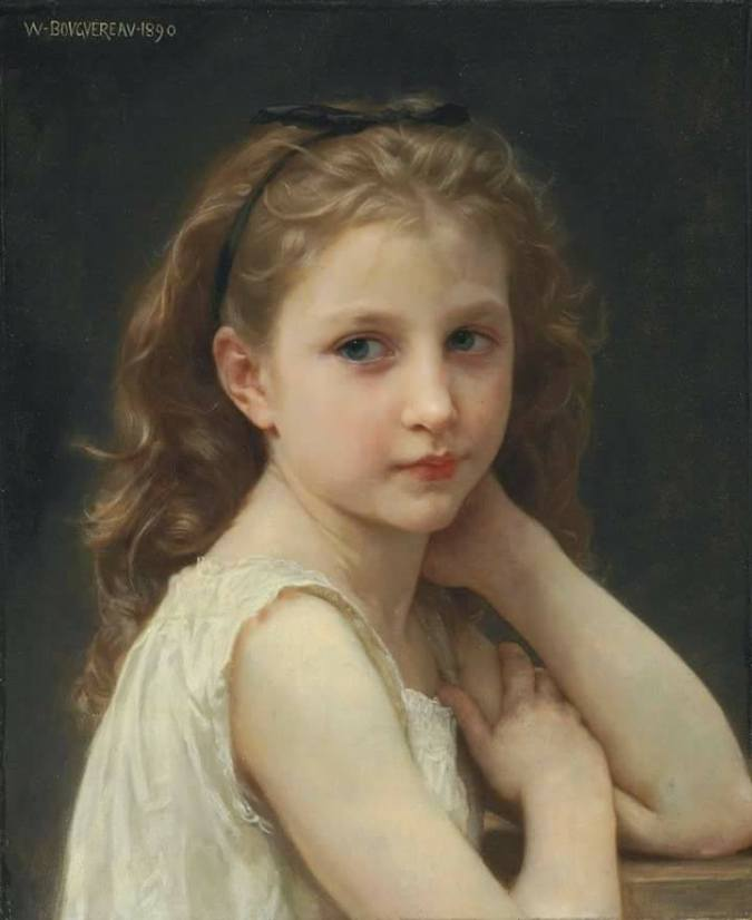 Head of a Girl - Henrrietta - Bouguereaus daughter